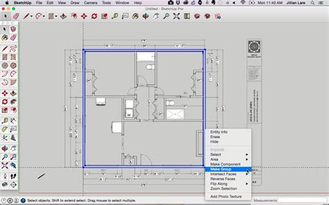 how to create floor plan in sketchup draw a floor plan in sketchup from a pdf tutorial