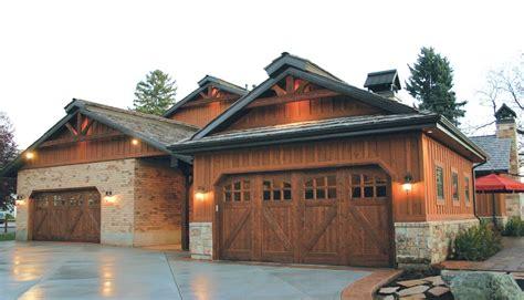 garage door to house carriage house mountain fox doors