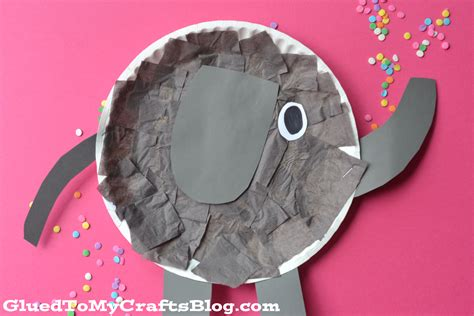 plate craft paper plate elephant kid craft glued to my crafts