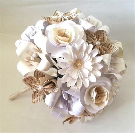 paper origami flower bouquet paper flowers origami bouquet wedding bridal alternative