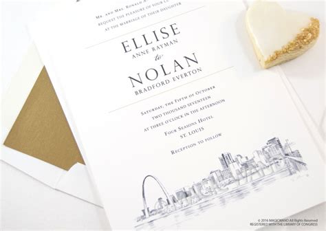 rubber st wedding invitations st louis skyline wedding invitations