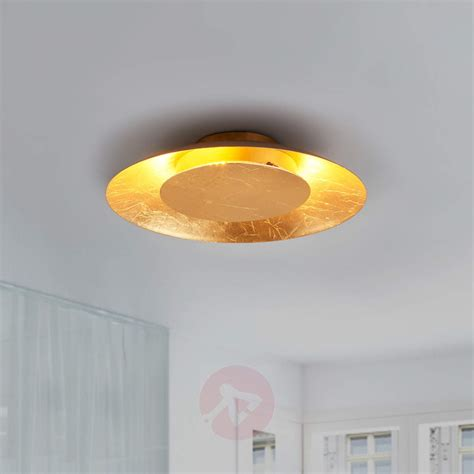 gold coloured ceiling lights gold coloured led ceiling light keti lights co uk