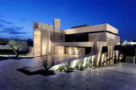 modern mansion house architecture a cero architects madrid house concrete