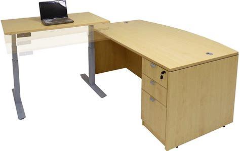adjustable height office desk electric lift height adjustable l shaped desks