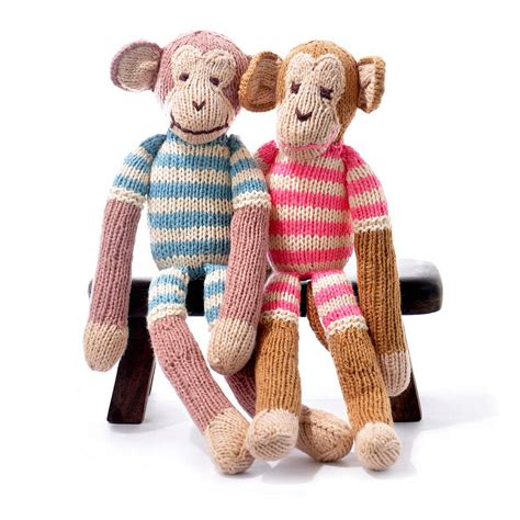 knitted toys knitted monkey soft by chunkichilli