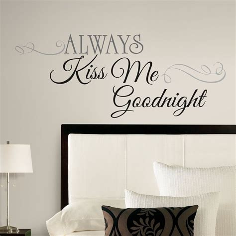 sticker decor for walls new large always me goodnight wall decals bedroom