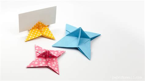 origami place cards origami place card holder paper kawaii