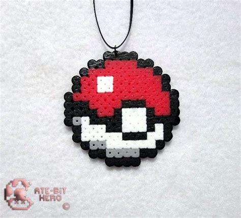 perler ebay pokeball necklace bead sprite perler ate bit