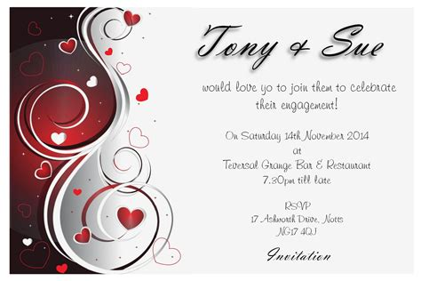 cards with photos new engagement invitation cards templates 63 for