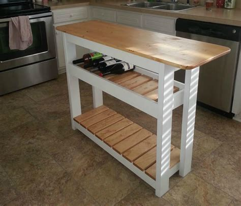 how to build a kitchen island bar diy kitchen island with wine rack step by step