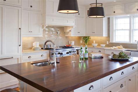 white kitchen wood island white kitchen island with wood countertop transitional kitchen