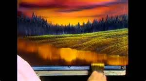 bob ross painting holidays uk the of painting s13e4 evening at sunset doovi