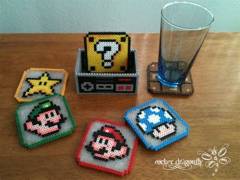 cool things to make with perler mario bros coasters made from perler but