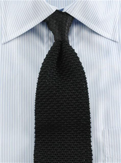 how to wear a silk knit tie classic silk knit tie in black