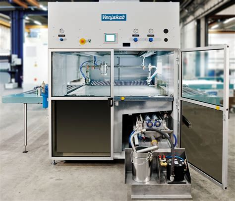 entry level woodworking venjakob to show ven spray smart machine for painting wood