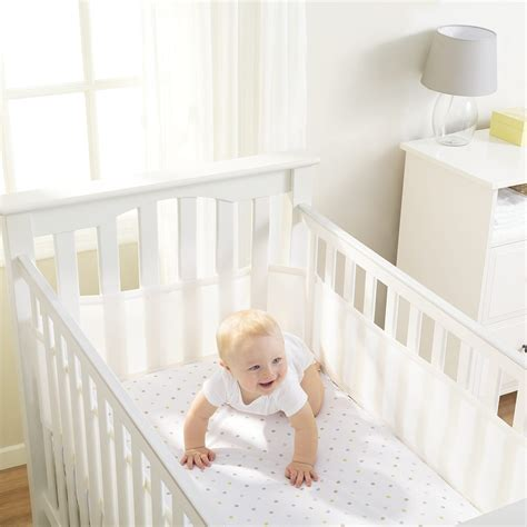 breathable baby crib liner breathablebaby 174 classic mesh crib liners breathablebaby