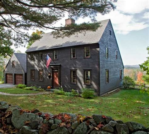 salt box style house in a reproduction saltbox house