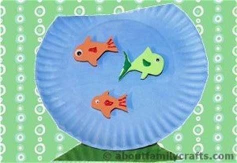 paper fish bowl craft fish bowl paper plate craft allfreekidscrafts