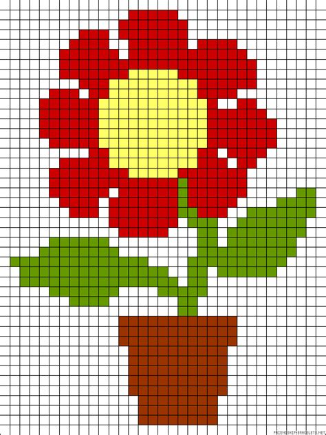 Flower Perler Bead Pattern Bead Patterns
