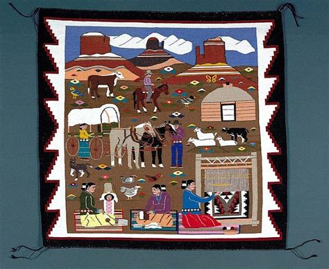 navajo crafts for reservation navajo rug woven by louise nez 1992 720x590