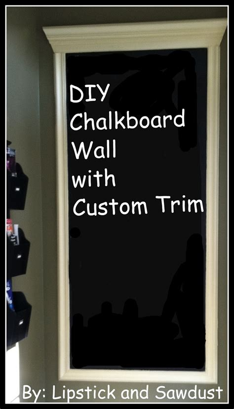 diy chalkboard walls lipstick and sawdust diy wall space to custom chalkboard