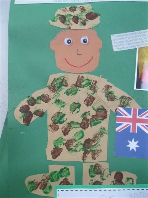 veterans day crafts for anzac memorial veterans day soldier craft top