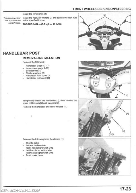 Pcx 2018 Pdf by 2013 2018 Honda Pcx150 Scooter Service Manual