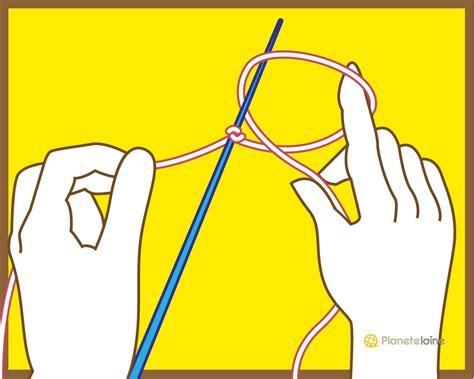 tricot crochet plan 232 te tuto monter les mailles avec 1 aiguille