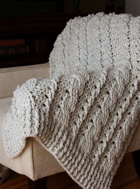 chunky cable knit blanket pattern 17 best images about knitting blankets on