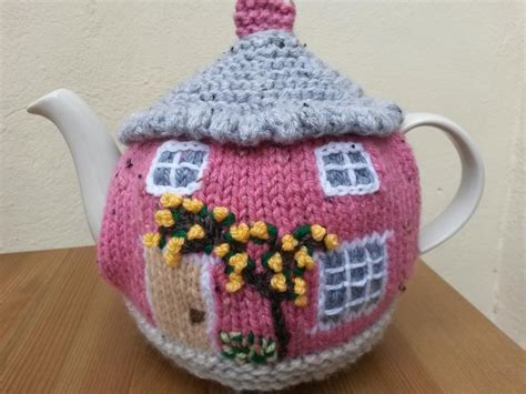 knitting patterns for tea cosies free knitted cottage tea cosies by linmary123 craftsy
