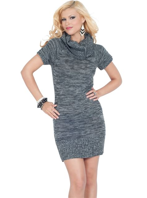 knitted sweater dress cowl neck knitted sweater dress hotfromhollywood