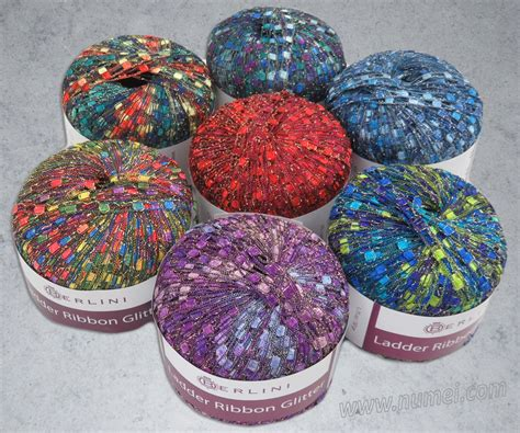 glitter yarn knitting berlini ladder ribbon glitter knitting yarn at numei yarn