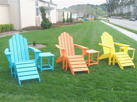 Colored Plastic Adirondack Chairs by Colored Resin Adirondack Chairs Home Design