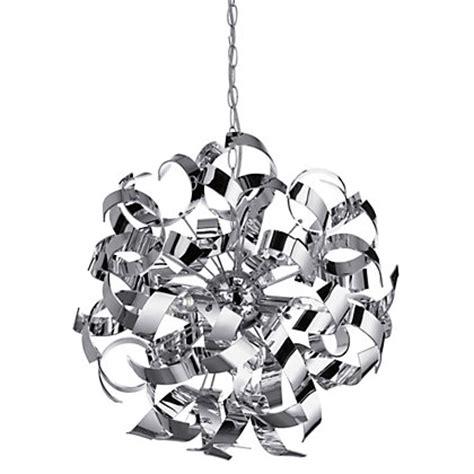 homebase chandelier sputnik chrome ribbon pendant light