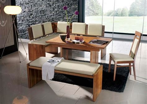 modern style dining tables modern bench style dining table set ideas homesfeed
