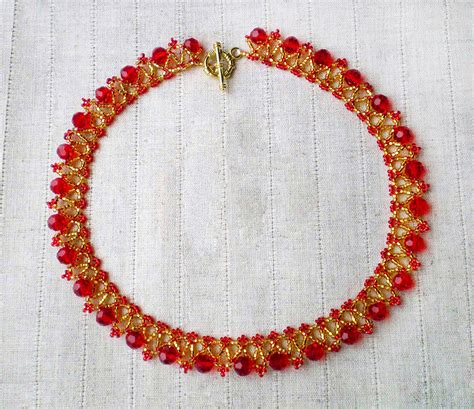 beaded necklace patterns free pattern for necklace strawberry magic