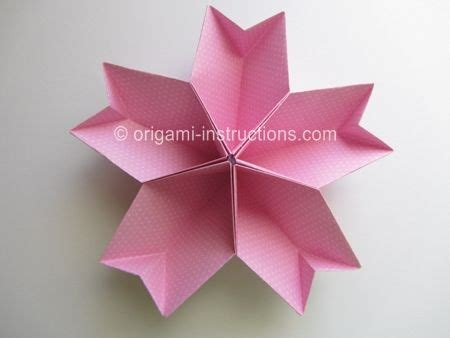 origami blossom origami kusudama cherry blossom step 1