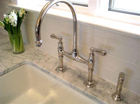 bridge faucets kitchen gooseneck bridge faucet traditional kitchen summer