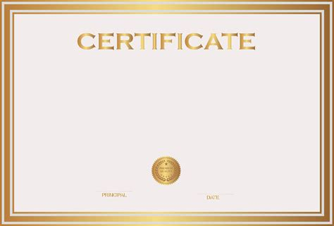 white and gold certificate template png image gallery