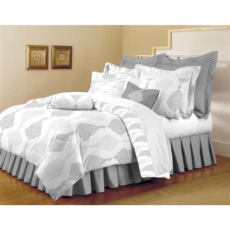 light grey comforter sets home dynamix classic trends white light gray 5