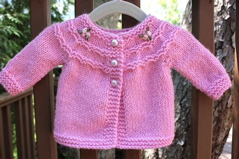 baby sweater knitting pattern pretty in pink a baby sweater big a a