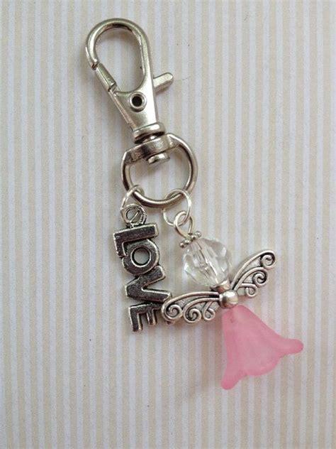 beaded bag charms beaded bag charm keychain pink
