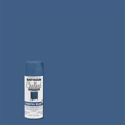 home depot spray paint blue rust oleum 12 oz coastal blue chalked spray paint 6 pack