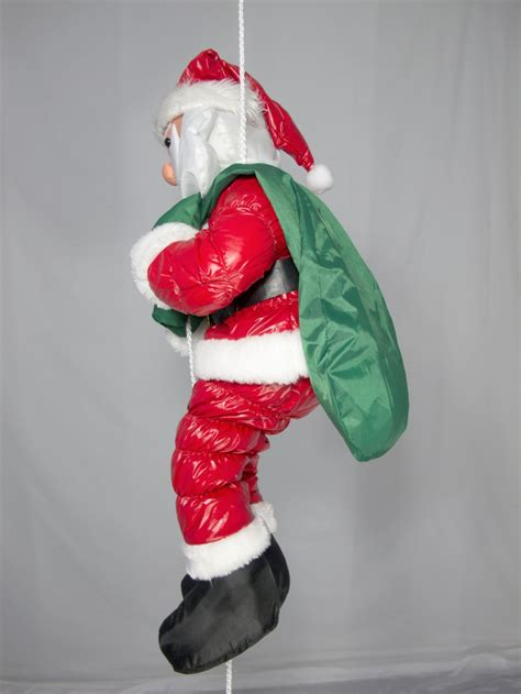 outdoor santa decorations hanging padded santa outdoor decoration 64cm large