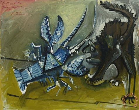 picasso paintings guggenheim pablo picasso lobster and cat le homard et le chat