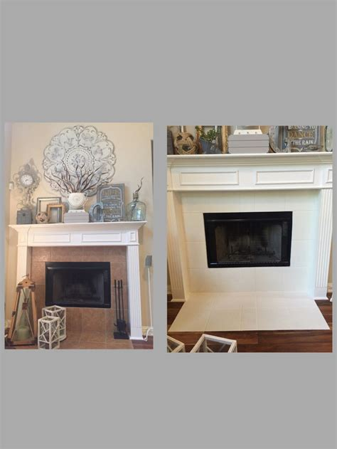 chalk paint fireplace tile 1000 ideas about tile around fireplace on