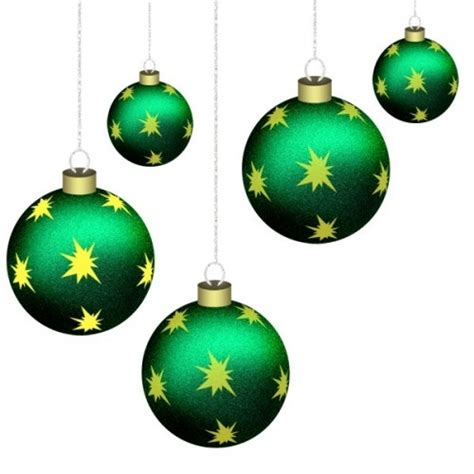 green baubles decorations five green baubles