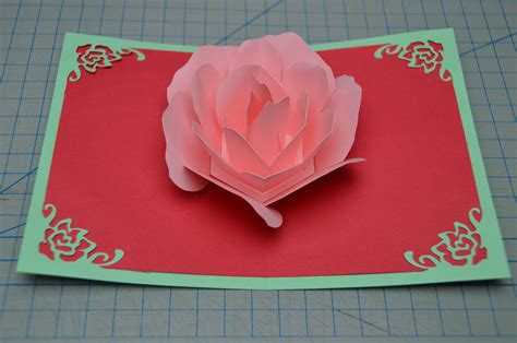 how to make a valentines card flower pop up card tutorial creative pop up cards
