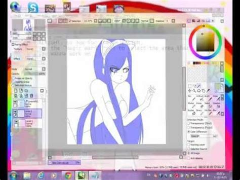 paint tool sai tutorials for beginners tutorial simple anime hair coloring painting paint tool