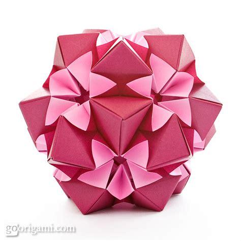 origami kusudama flower kusudama origami gallery go origami